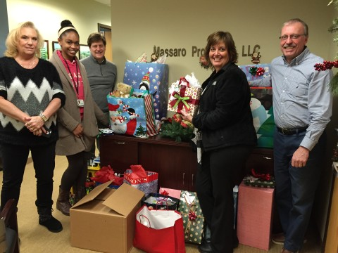 Image: 2015 Holy Family Institute Angel Tree Donations